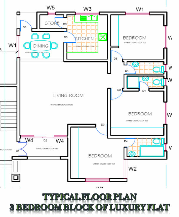 Floor Plan 3 Bedroom Block Of Flats ...